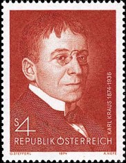 Briefmarke Karl Kraus