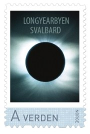 Norwegen Briefmarke Sonnenfinsternis 2015