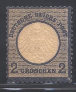 Deutschland, Deutsches Reich, kleines Schild - Briefmarke 2 Groschen Michel Nummer 5