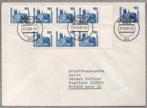Raetselhafte Briefdrucksache Deutschland BRD DDR Wiedervereinigung