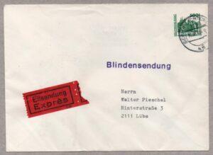 Raetselhafte Ganzsachen Deutschland BRD DDR Wiedervereinigung Briefmarke Blindensendung Express