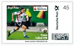 Fussball Legenden WM Frauen Prinz Briefmarke