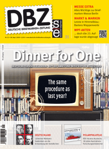 DBZ 21 2018 Dinner for One Same Procedure Titel