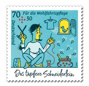 Briefmarke Deutschland Das tapfere Schneiderlein