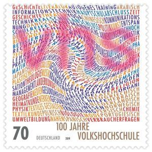 Briefmarke Deutschland 100 Jahre Volkshochschule