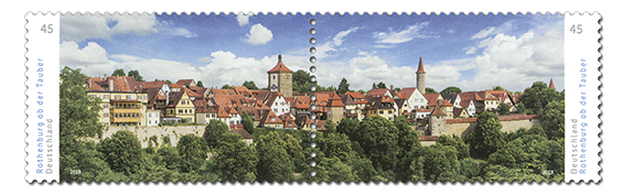 Briefmarken Deutschland Rothenburg ob der Tauber