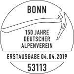 Stempel Bonn 150 Jahre Deutscher Alpenverein