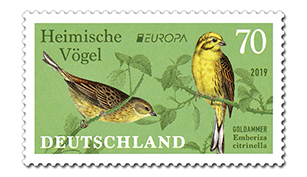 Briefmarke Deutschland Goldammer