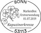 Stempel Bonn Kapuzinerkresse