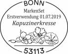 Stempel Bonn Markenset Kapuzinerkresse