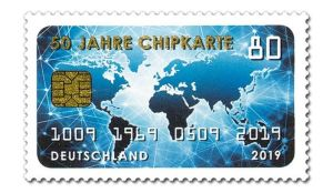 Briefmarke Deutschland Chipkarte