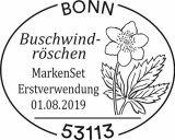 Stempel Bonn Markenset Buschwindroeschen