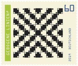 Briefmarke Deutschland Optische Täuschung