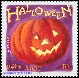 Briefmarke Frankreich Halloween