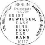 Stempel Berlin Annemarie Renger