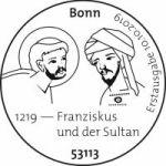 Stempel Bonn Franziskus und Sultan