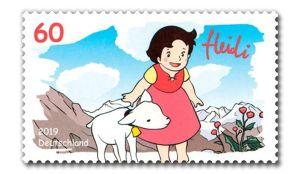 Briefmarke Deutschland Heidi