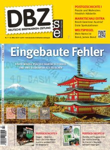Deutsche_Briefmarken_Zeitung_Faelschung_Spanien_Siegen_James Bond_dbz_007-2020_Cover