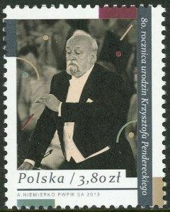 Penderecki Briefmarke Polen