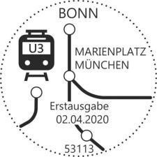 Stempel Bonn U-Bahn-Station Marienplatz