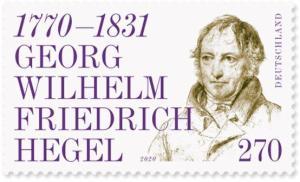Briefmarke Deutschland Georg Wilhelm Friedrich Wilhelm Hegel