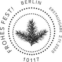 Stempel Berlin Frohes Fest