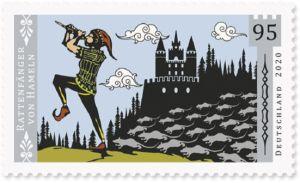 Briefmarke aus Deutschland Rattenfänger von Hameln