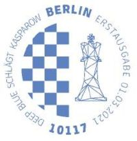 Stempel Berlin Deep Blue-Kasparow