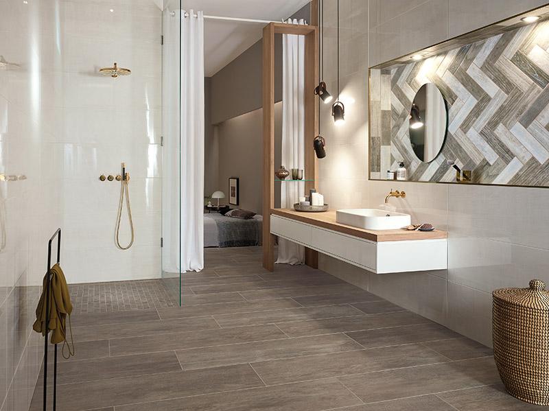 Badezimmer Fliesen Holzoptik Grau Haus Ideen