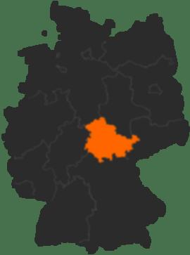Bundesland Thringen in Deutschland  Karte und alle
