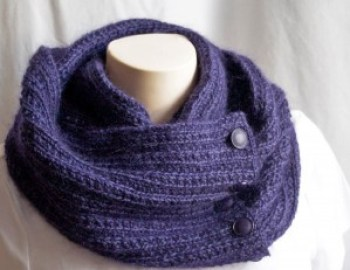 Knitting Pattern Cowl Midnight Cowl