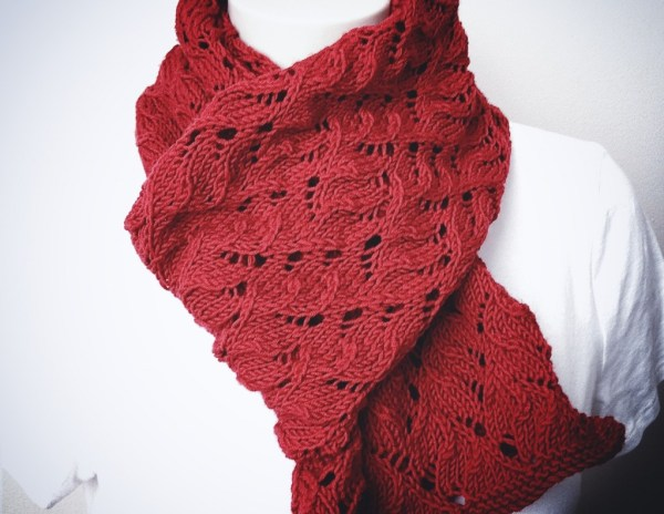 Red Red Scarf - Knitting Pattern Scarf