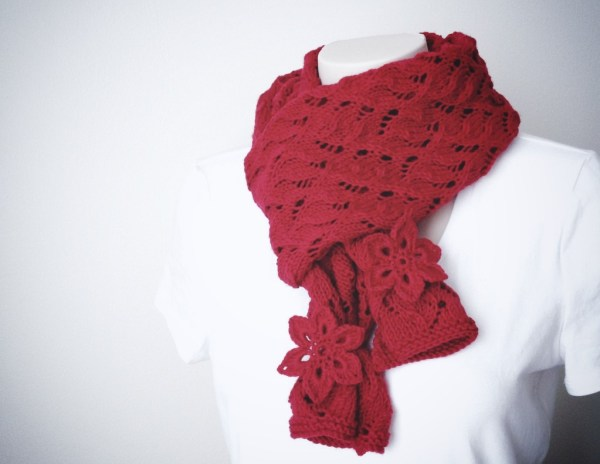 Knitting Pattern Scarf - Red Red Scarf