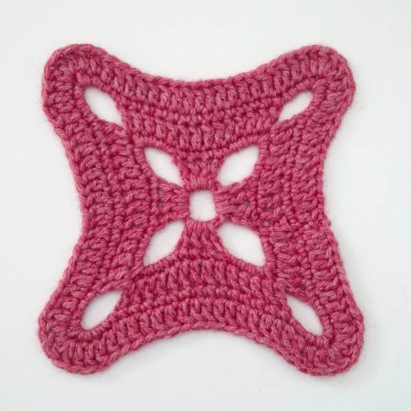 "Crochet motif #15 from the book ""The Granny Square Book"""
