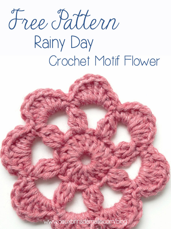 Free Pattern Rainy Day Flower
