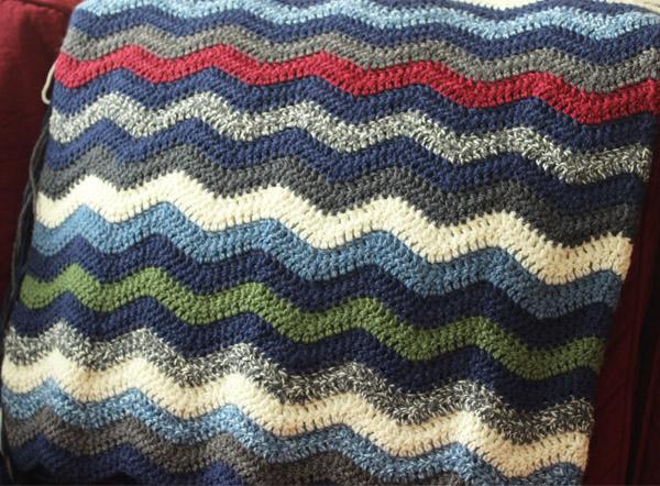 Ripple Crochet Blanket 2