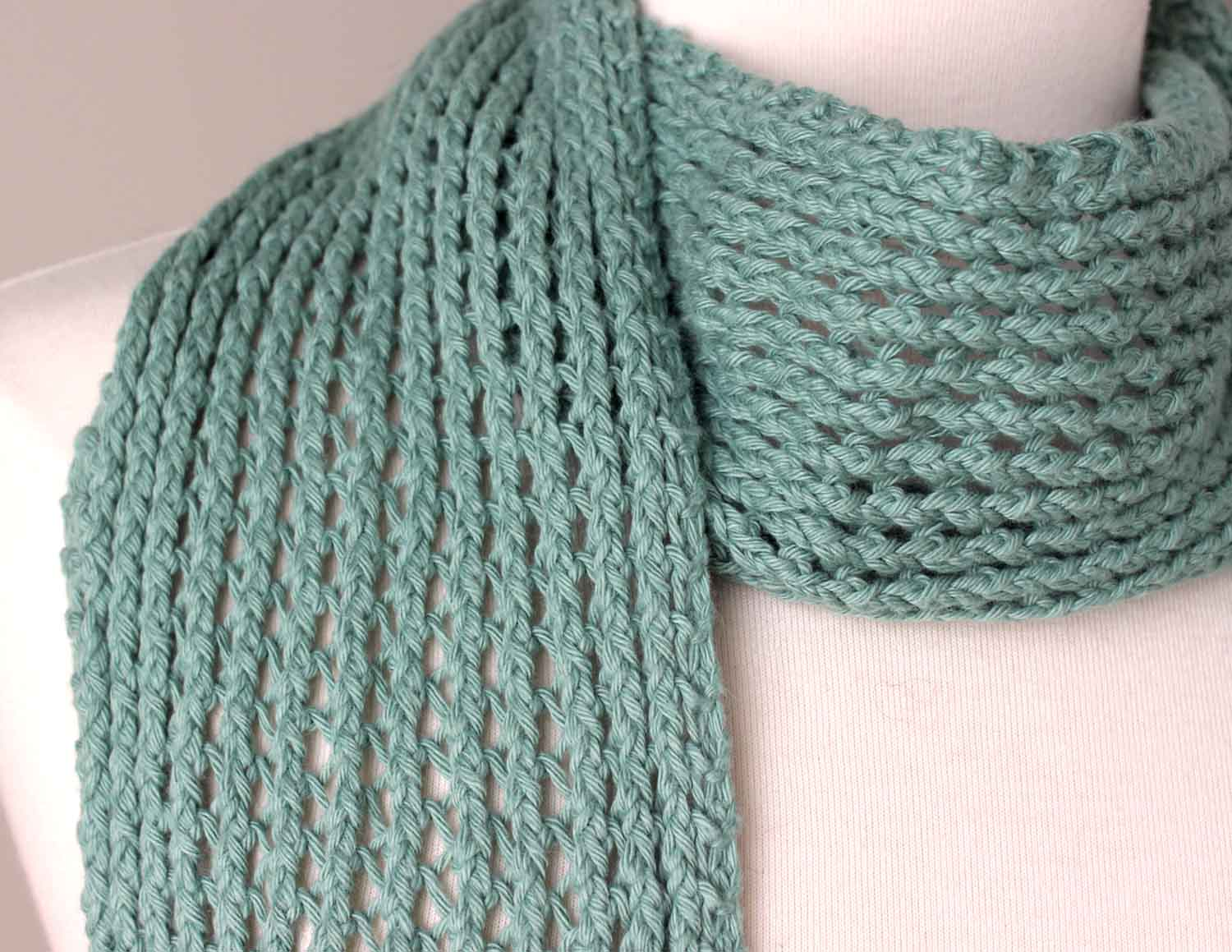 Knitting Summer 2015 : Free knitting pattern scarf join all the other members