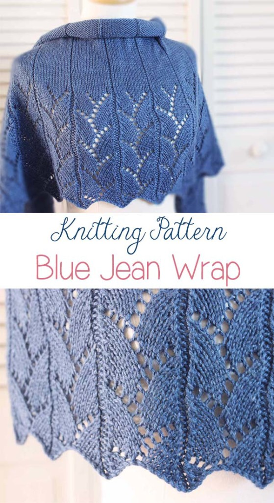 Blue Jean Wrap Knitting Pattern