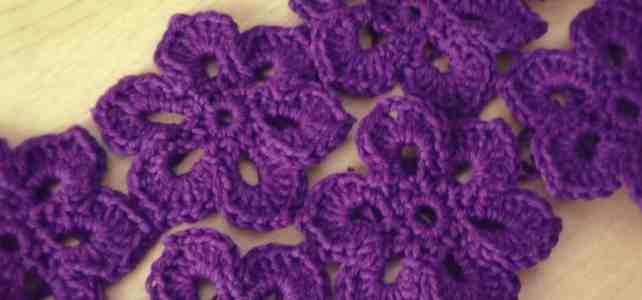 Project 365 – Crochet Motif Flower for Scarf