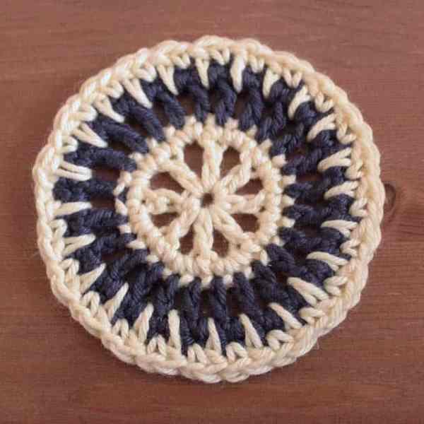 Free Crochet Motif Pattern Sun Spikes