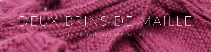 Deux Brins de Maille Shop, knitting and crochet patterns
