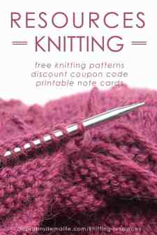 Resources Knitting | Deux Brins de Maille