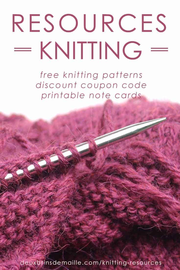 Knitting Resources - Deux Brins de Maille
