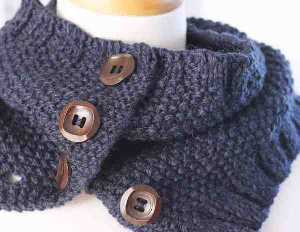 Free Knitting Pattern Cowl The Blue Night Cowl Deux Brins De Maille