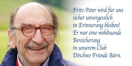 Wir trauern um Fritz-Peter