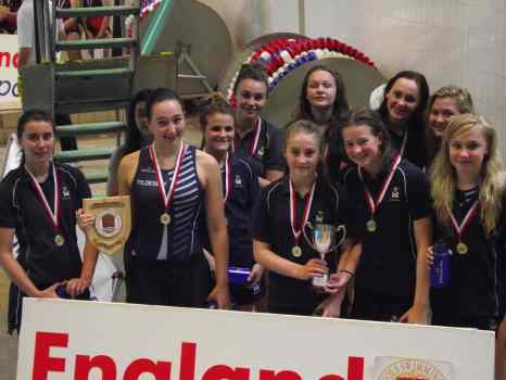 Left to right, back row: Grace Morley, Lucy Matthews, Beth Jackson, Abigale Barton, Hannah Armstrong, Josephine Costello (Capt); front row: Lucy Childs, Honor Grimes, Grace Rowland, Bethan Grimes and Ellie Chadwick