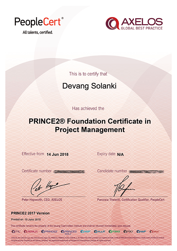 Prince2 2017 Foundation Certificate In Project Management Ukusa