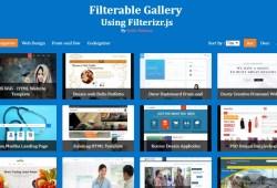 Screenshot Filterable Gallery