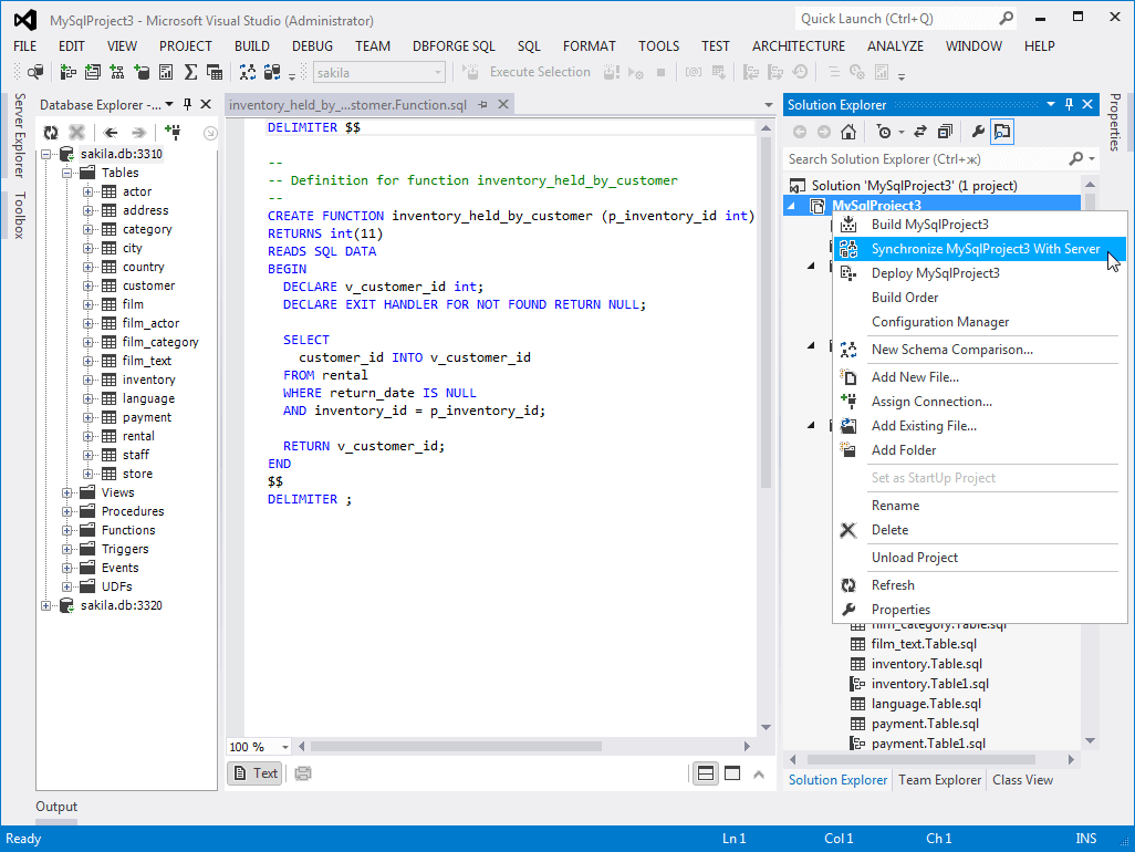 database diagram visual studio 2013 oven heating element wiring dbforge fusion for mysql marketplace project