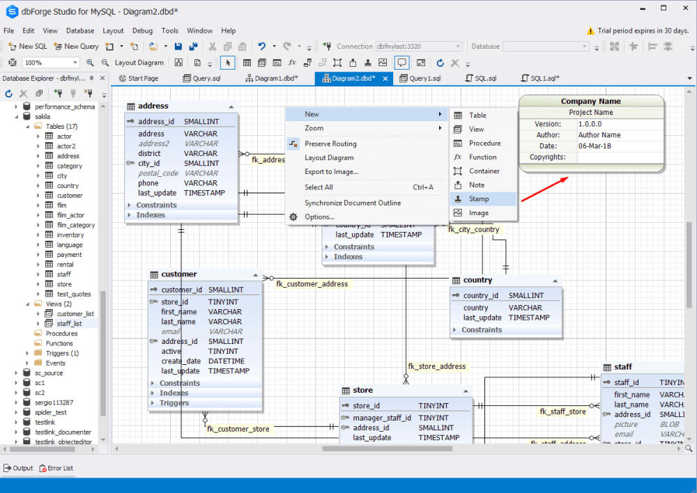 medium resolution of besides the database schema itself you can place sketches of new objects onto the database designer for mysql surface link any external documents to it